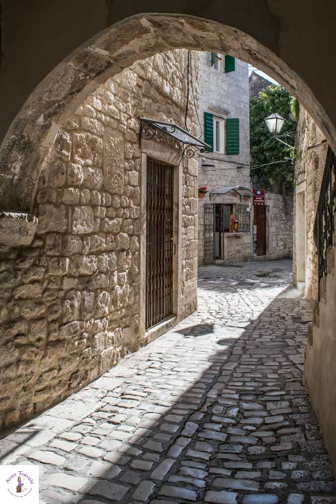 Streets in Old Town of Trogir is one of the most beautiful places