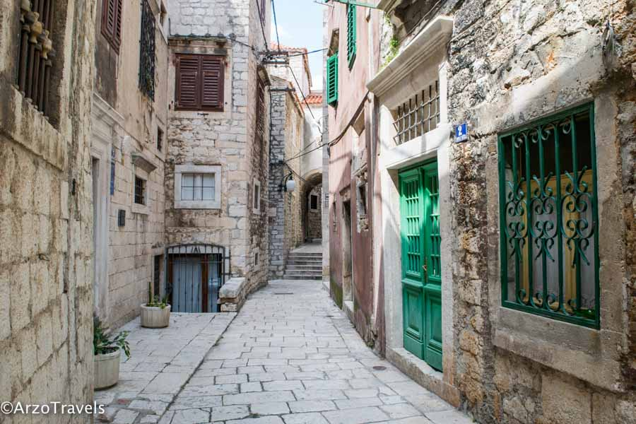 Streets in Sibenik, must see in two weeks in Croatia