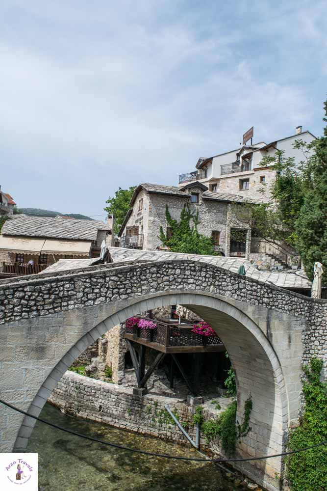 The crooked bridge is one of the best things to do in Mostar, Bosnia-Herzegovina