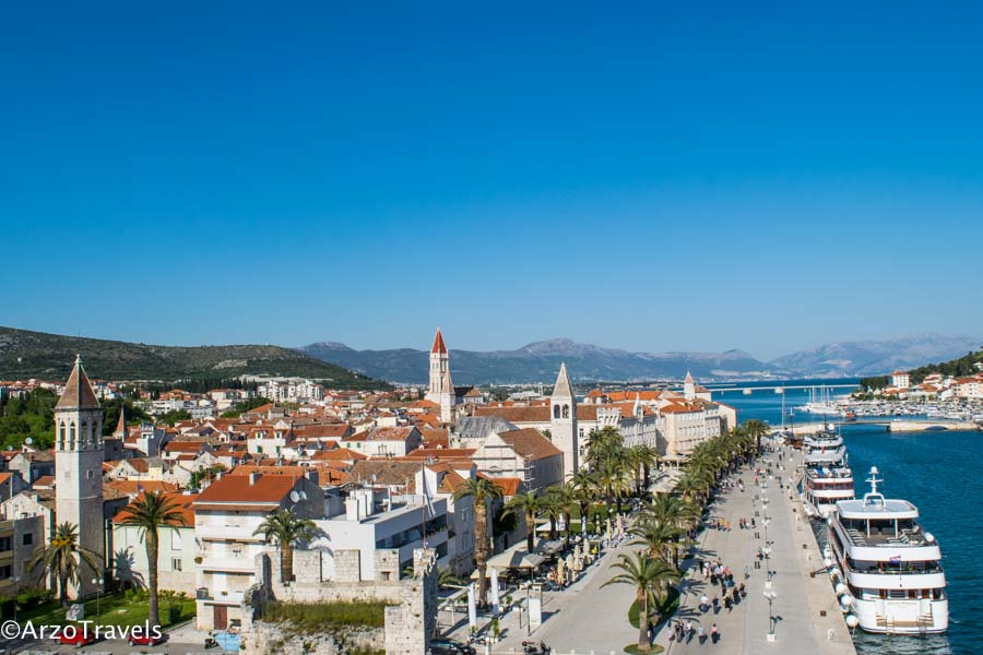 Trogir view from the fortress, Trogir is a must on Dubrovnik itinerary