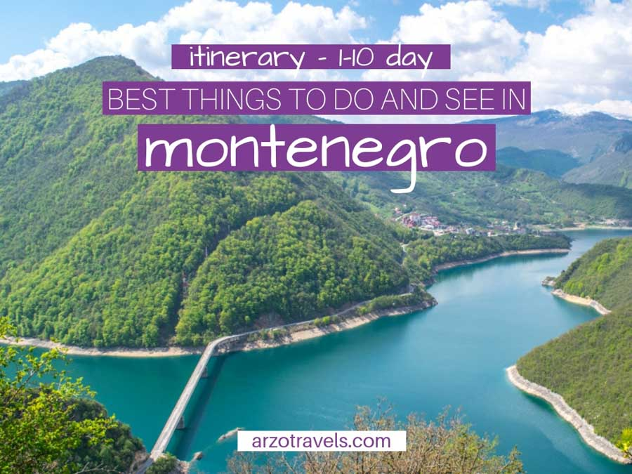 1-10 Days in Montenegro Itinerary