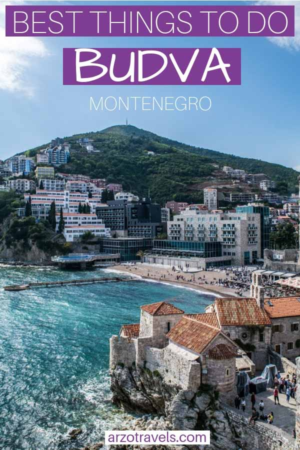 Budva, Montenegro in one day. The best things to do and see - pin