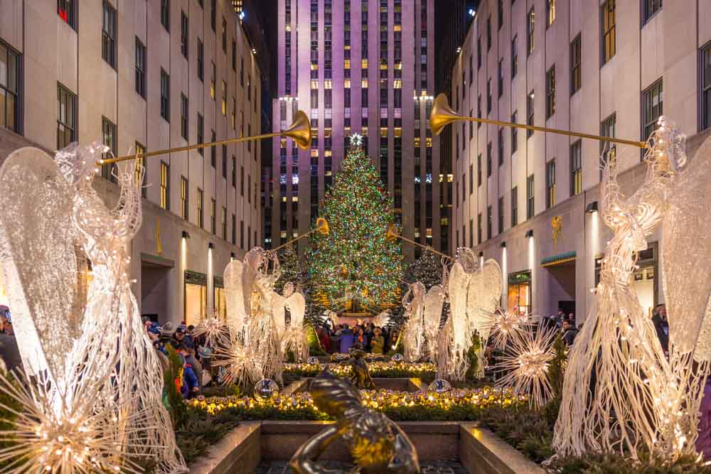 Christmas tree at Rockefeller Center in Manhattan is one of the best places to visit in winter