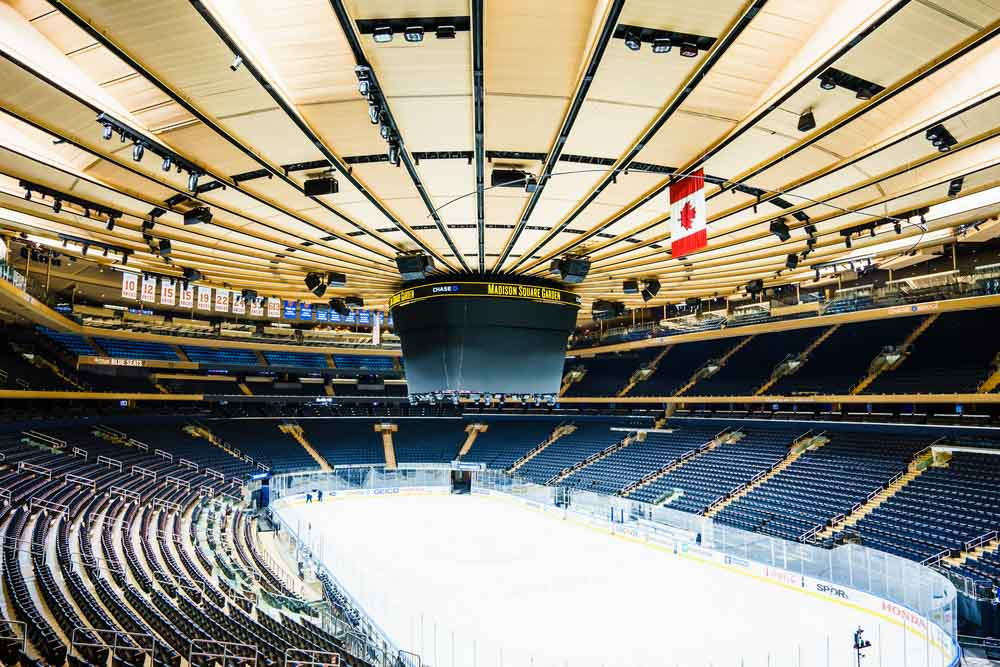 Hockey Game at Madison Square Garden one of the best winter activities in New York