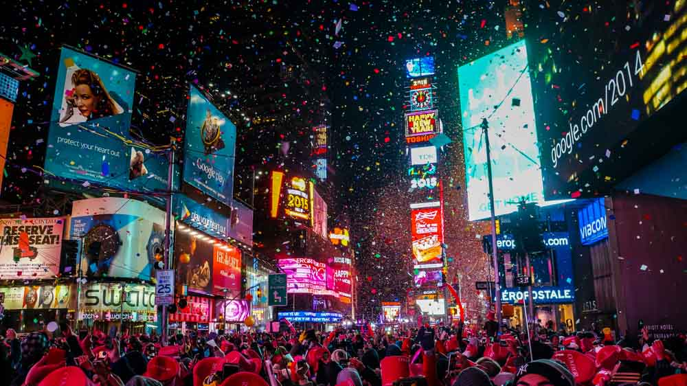 New Year's Eve in Times Square is a must-do in NY in winter