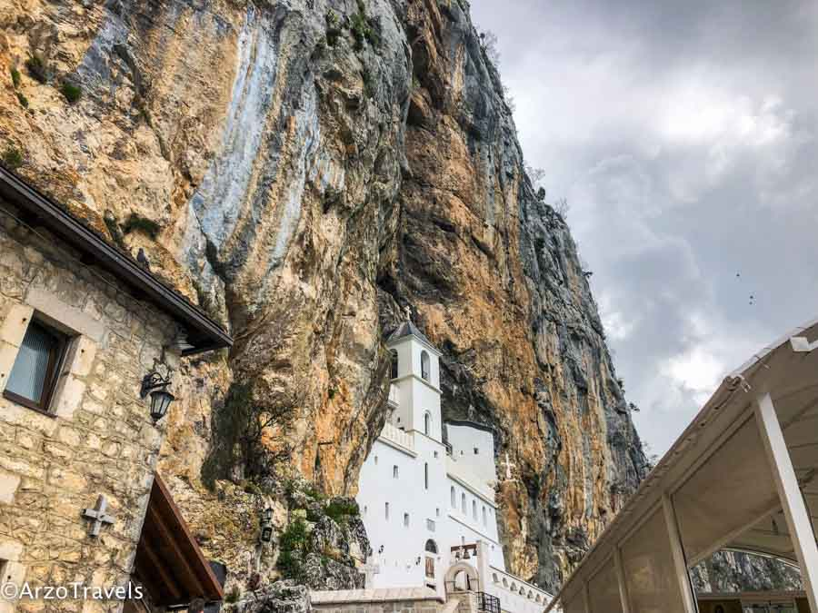 Ostrag Monastery in Montenegro is one of the travel highlights