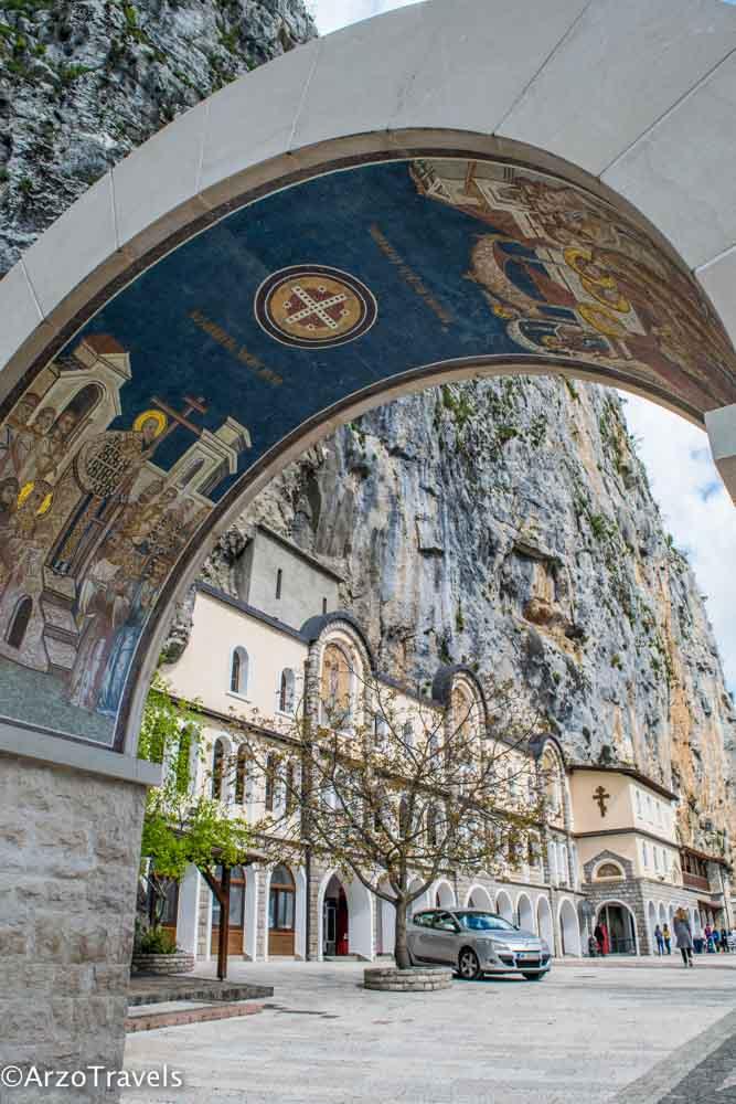 Ostrag Monastery, main point of interest in Montenegro