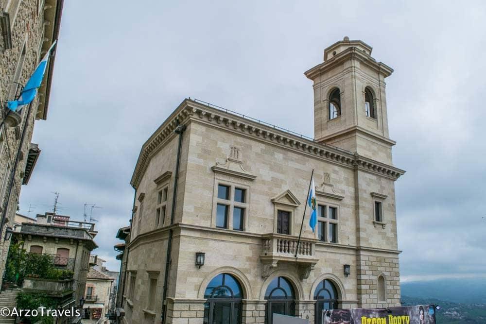 Piazza della Liberta, main square in San Marini