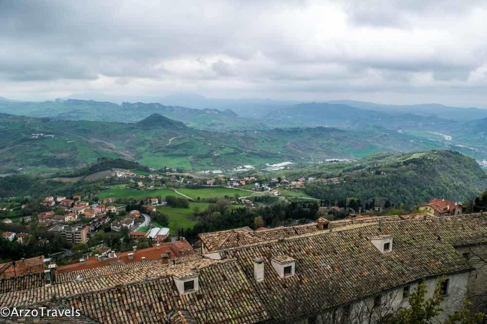 San Marino views from hill