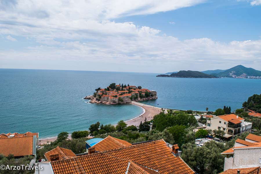 Sveti Stefan is one of the main places for tourists in Montenegro