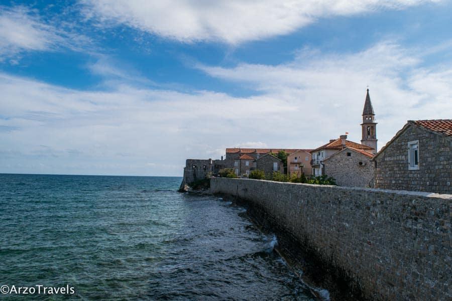 Town walls in Budva, Montenegro