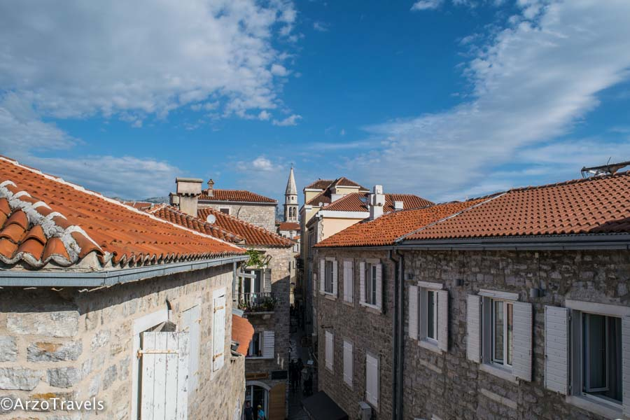 View from the city walls in Budva is one of the best places to visit
