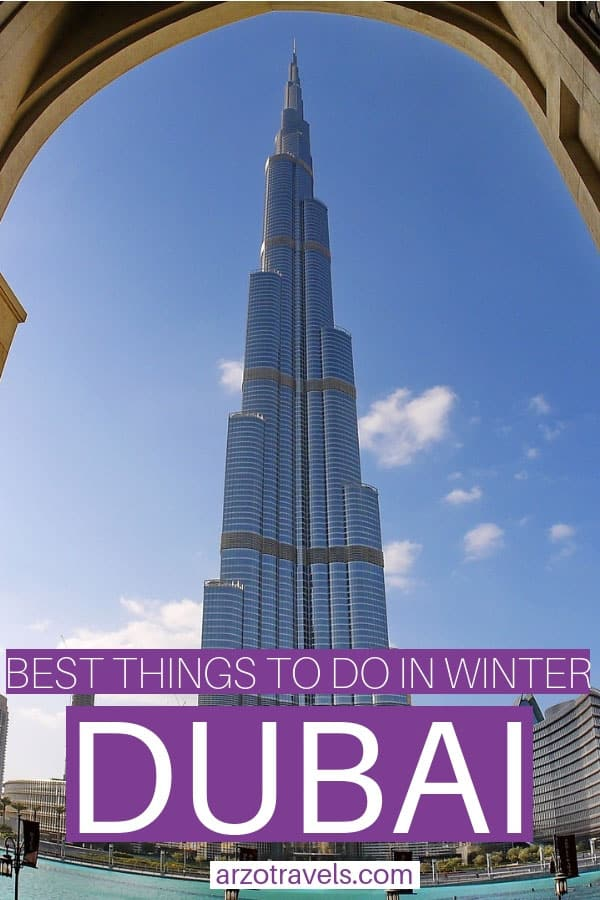 Winter travel guide for Dubai, best things to do and see