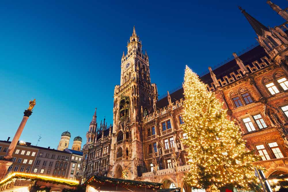 Marienplatz with the Christmas market in Munich, Germanone of the best places to visit in winter