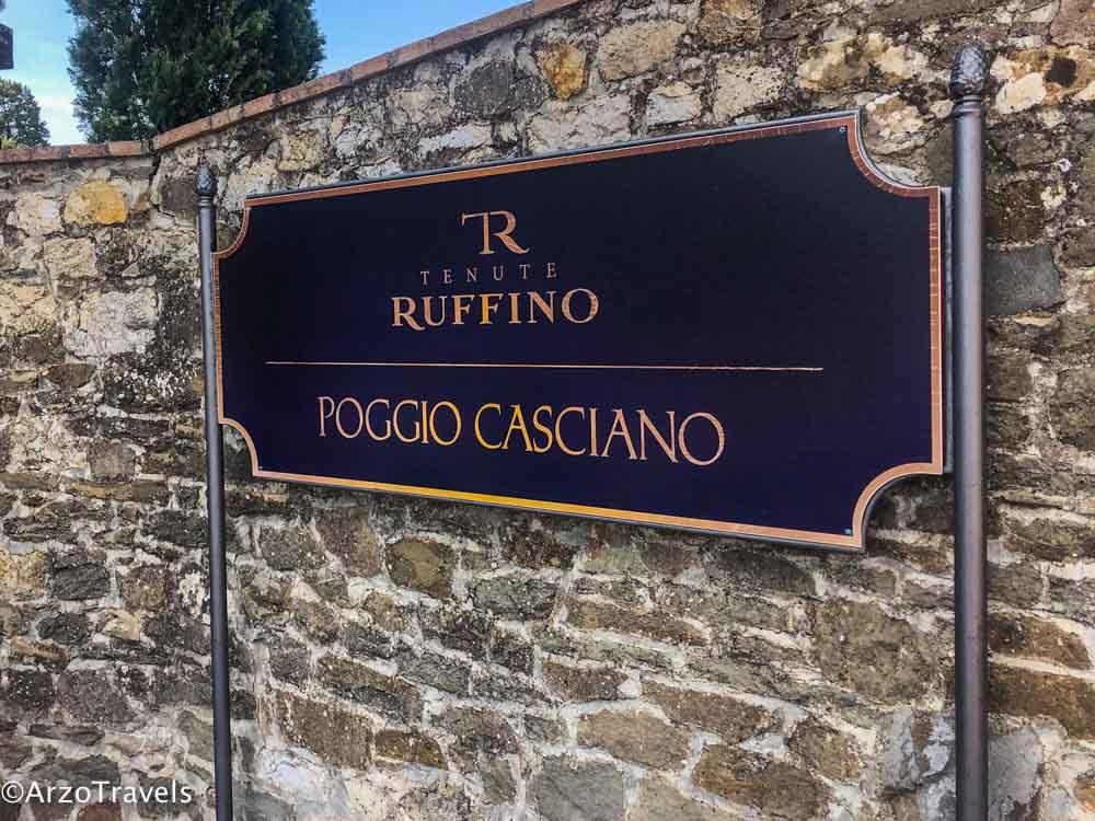 Poggio Casciano estate Relais Ruffino in Tuscany estate with Arzo Travels
