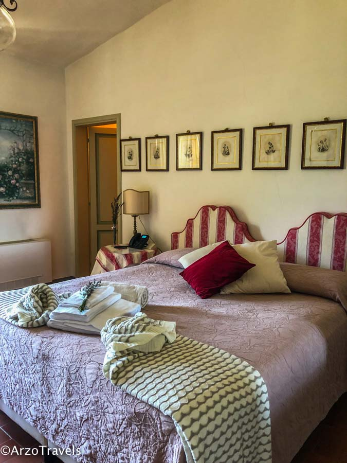 Room at Ruffino Relais in Tuscany estate with Arzo Travels