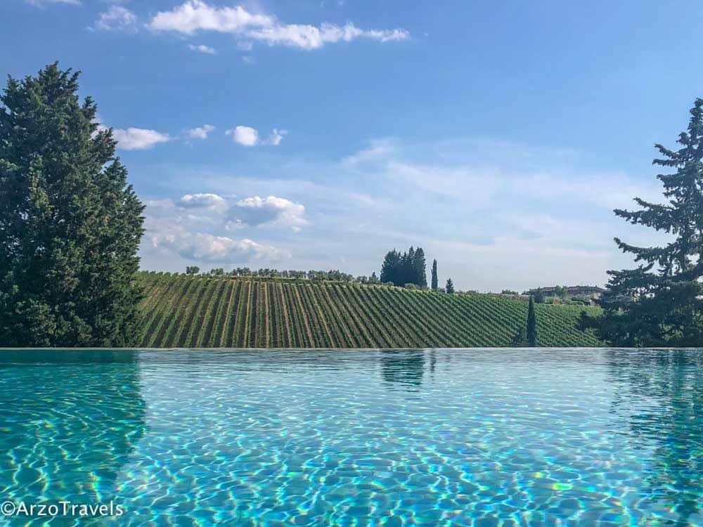 Ruffino Relais pool view