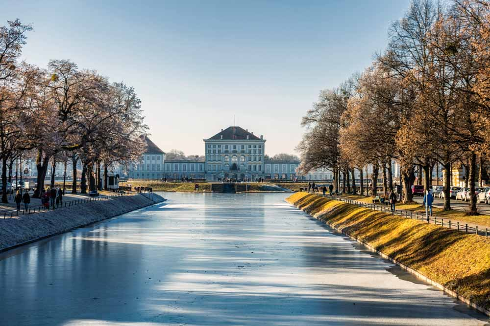 Schloss und Park Nymphenburg at winter time in Munich one of the best things to do