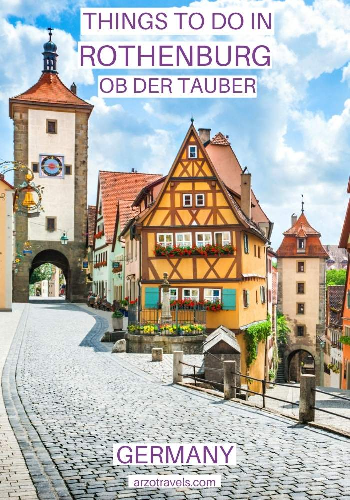 Things to do in Rothenburg ob der Tauber, Germany, ARZO TRAVELS
