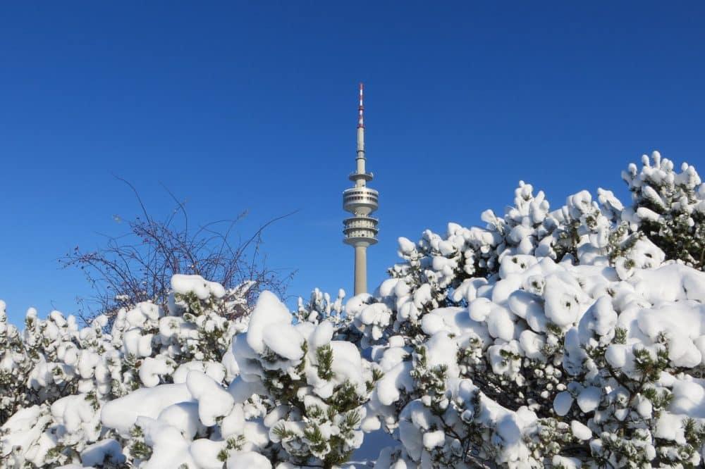 Fernsehturm Munich in winter