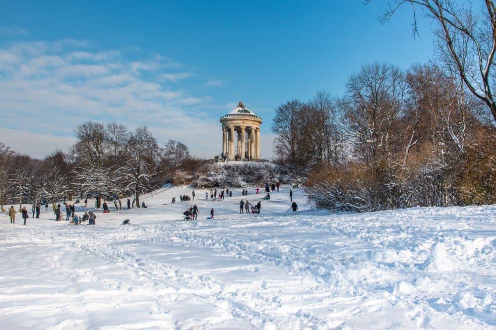 Englischer Garten in Munich in winter