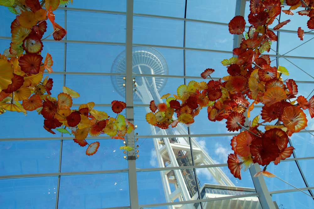 Chihuly Garden and Glass museum conservatory a must for a 3-day Seattle itinerary