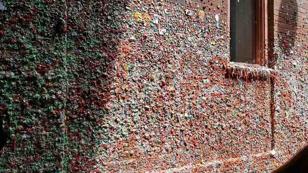 Gumwall is a must see in Seattle in 3 days