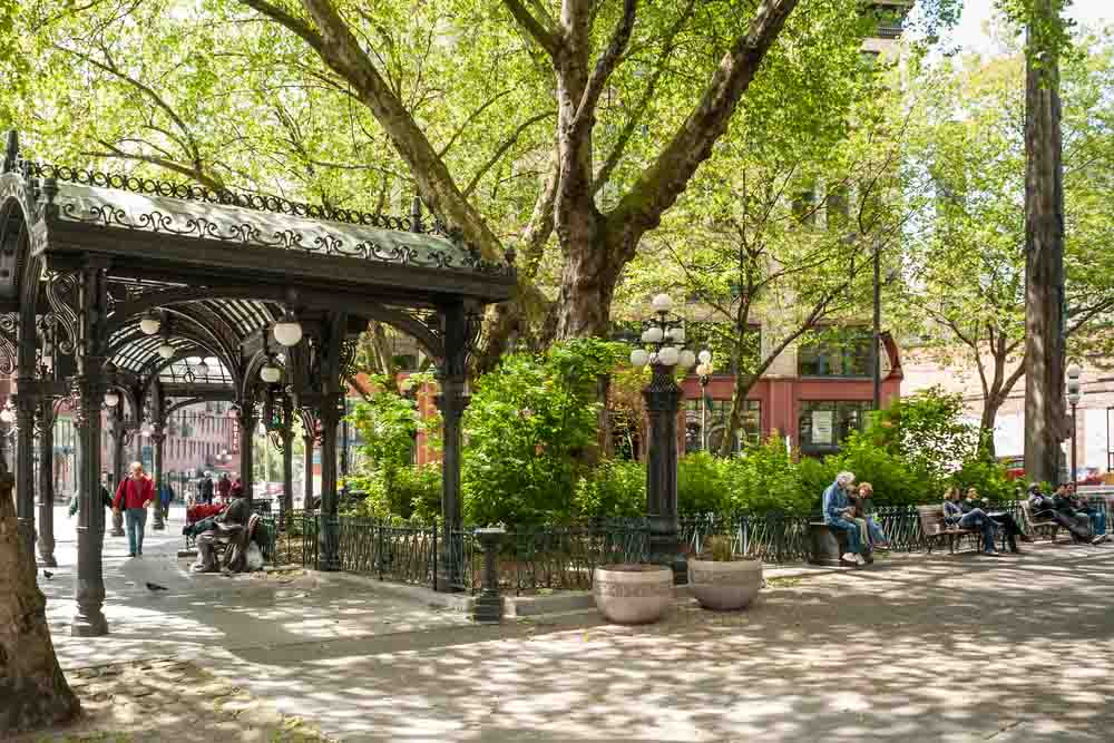Iron Pergola on Pioneer Square is a must-see in 3 days in Seattle
