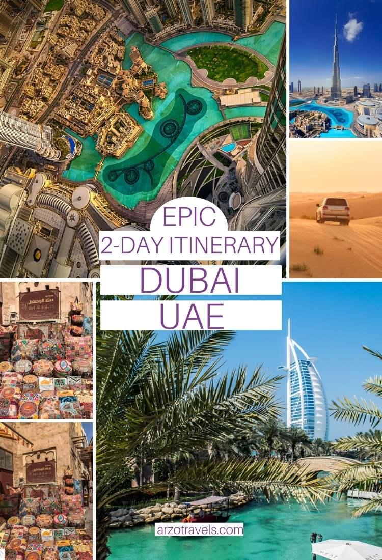 2 day itinerary Dubai, Arzo Travels
