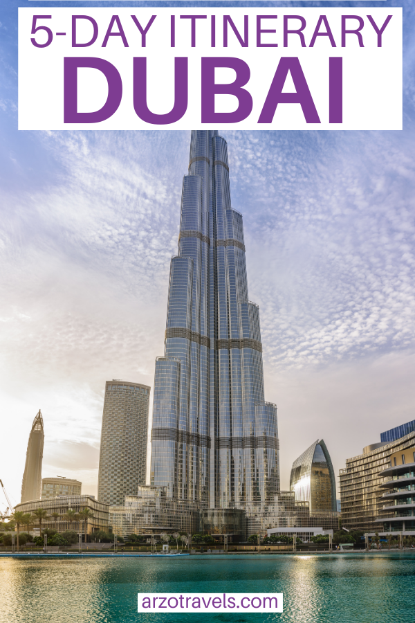 5-day Dubai itinerary, how to spend 5 days in Dubai, UAE