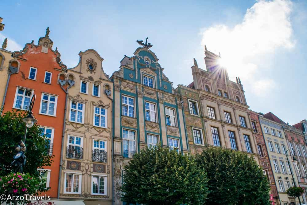Beautiful houses in Gdansk, Poland