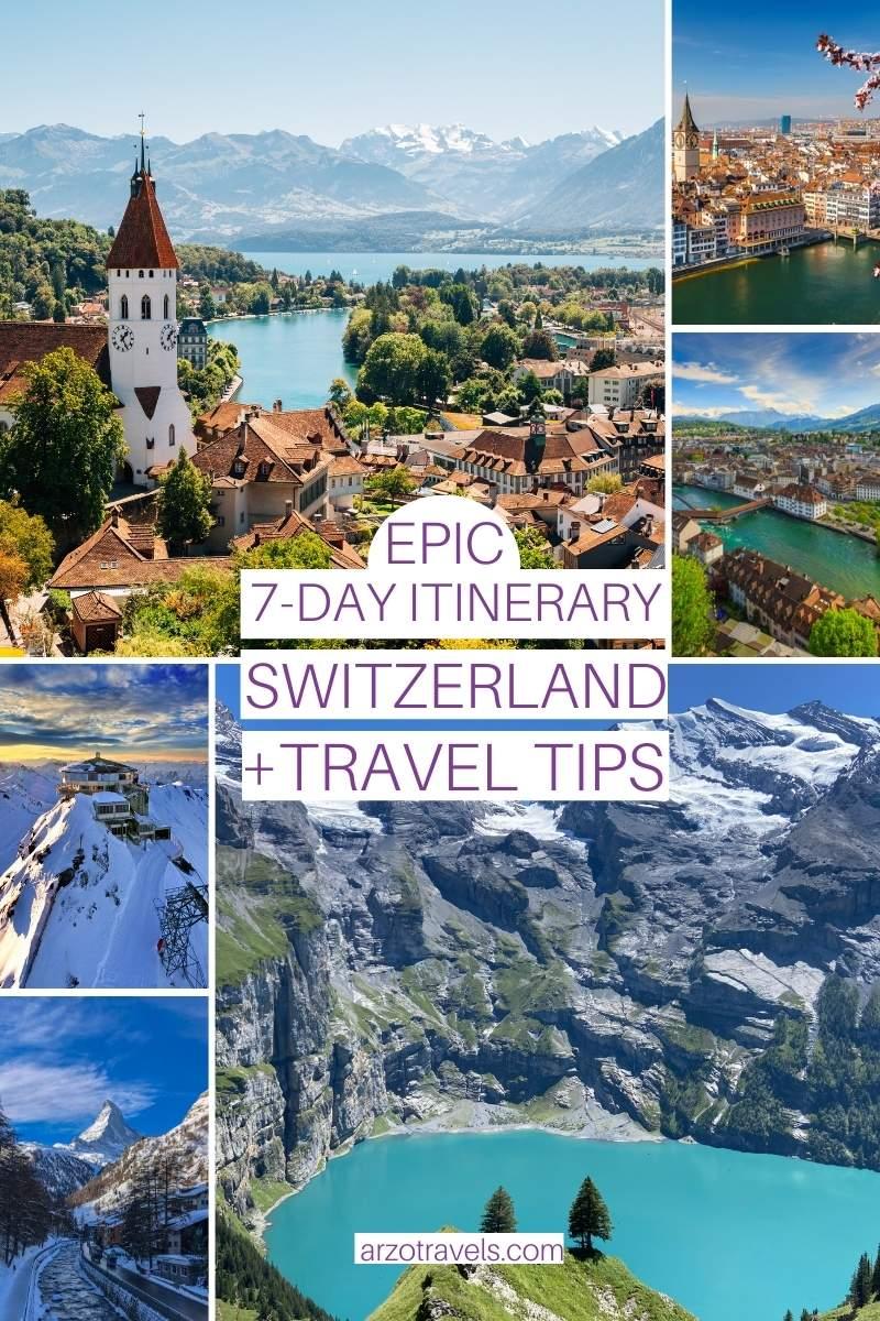 Epic 7 day Switzerland itinerary, Arzo Travels