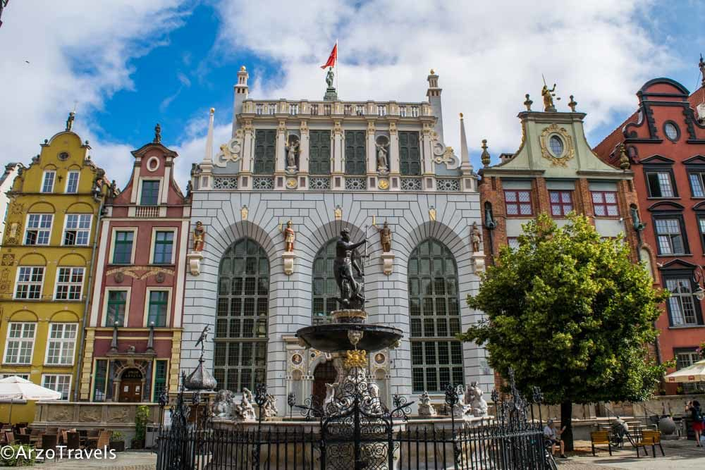 Fountain of Neptune, visiting is one of the best things to do in Gdansk in 1 day
