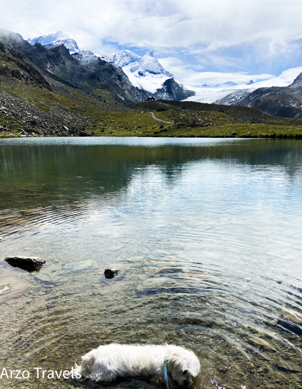 Lake with Matterhorn in background arzo Travels