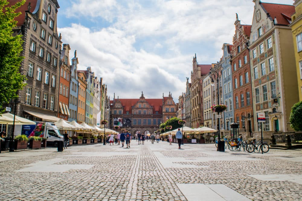 Long Street in Gdansk on an early morning