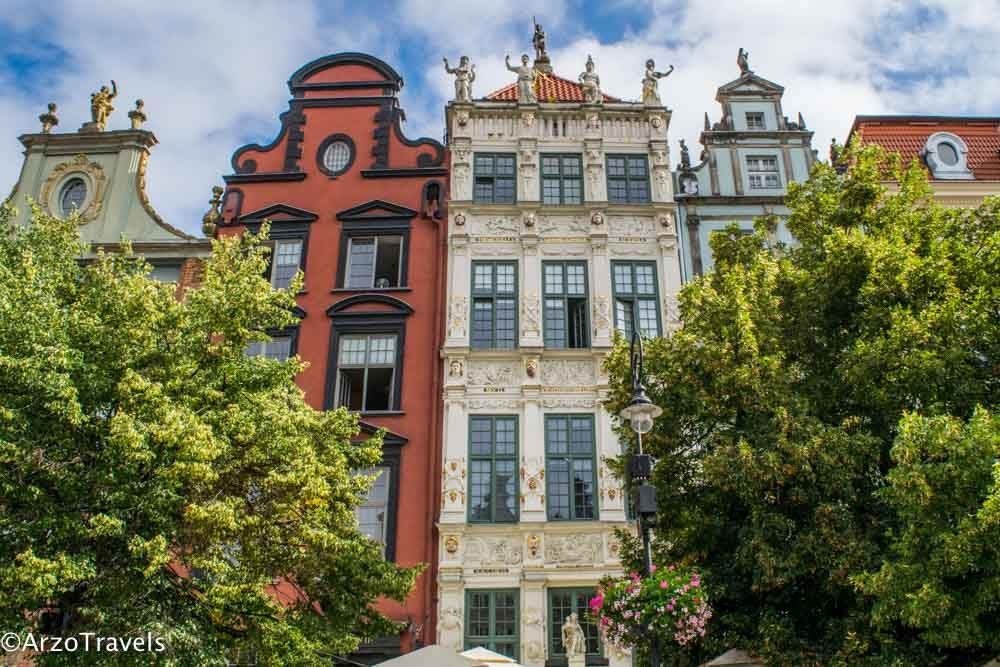 Most beautiful buildings in Gdansk