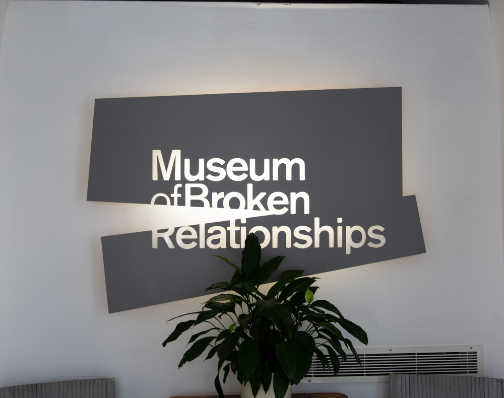 Museum of Broken Relationships in Zagreb, Croatia a popular spot