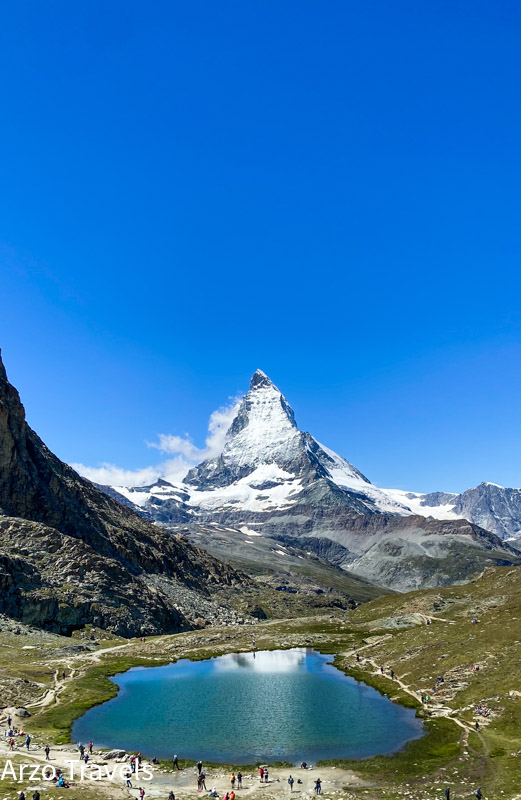 Riffelsee in Zermatt with Matterhorn