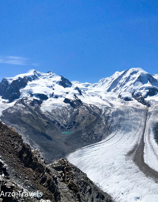 View from Gornergrat with Monte Rosa in Zermatt