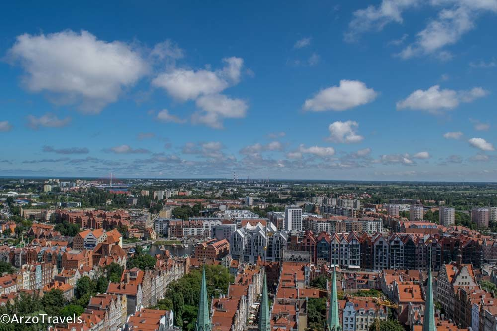 View from St. Mary Church in Gdansk