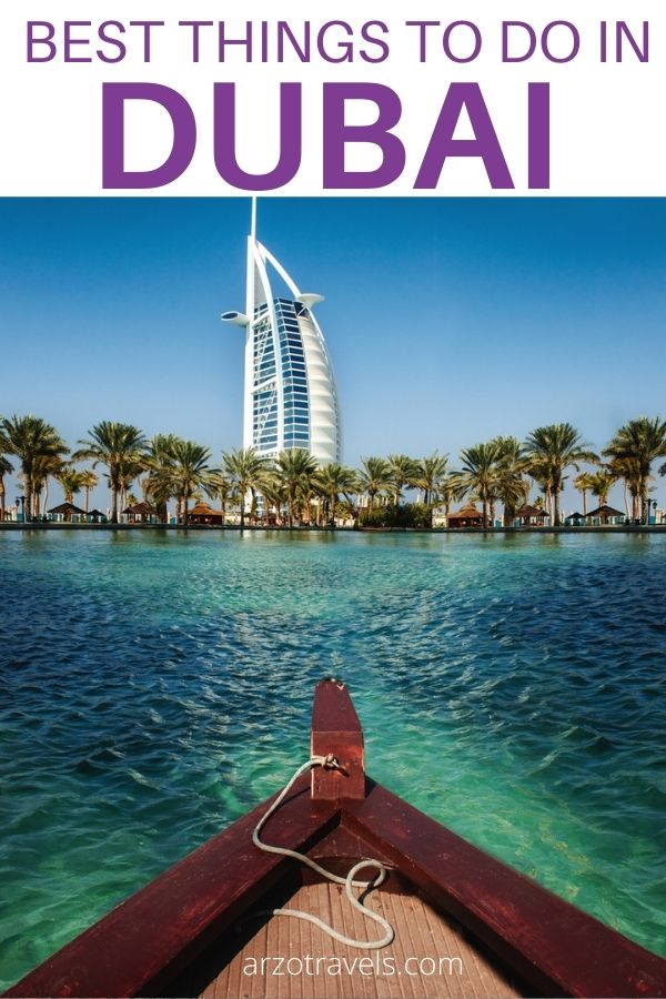 best things to do in Dubai, where to go and what to do in Dubai, UAE, Pin