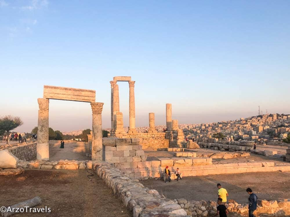 Amman citadel is one of the best places to see in Jordan