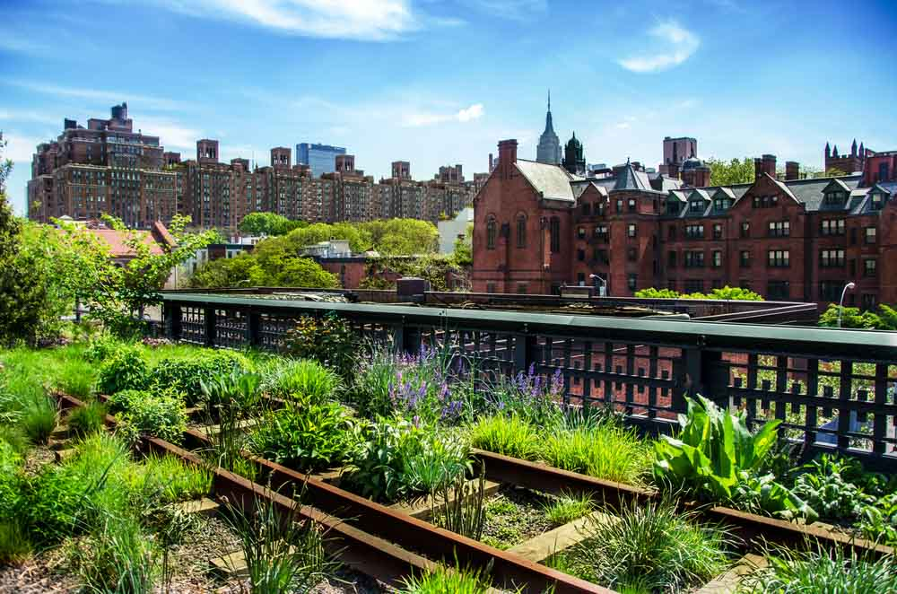 HIgh Line. Urban public park on an historic freight rail line on any NY 4-day itinerary