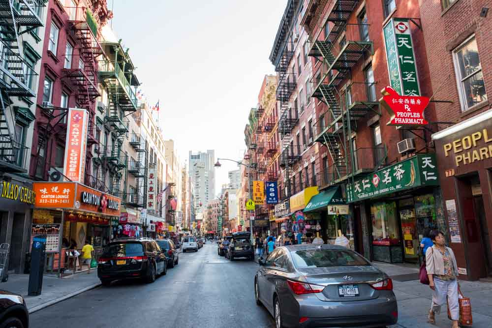 Street view of Chinatown in NYC one of the top things to do in 4 days