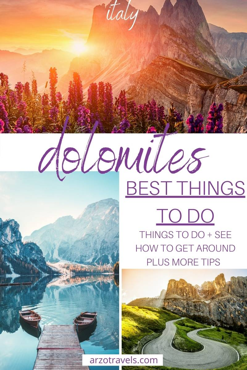 Things to do in Dolomites, itinerary, Arzo Travels