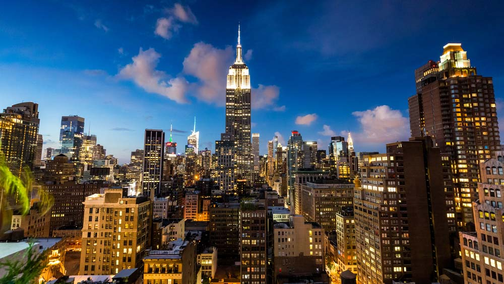 This view is from the rooftop of the 230-fifth Bar one of the best places to visit in 4 days