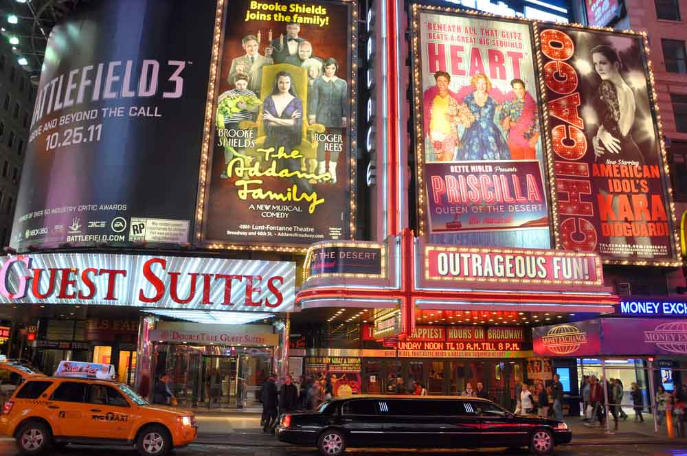Broadway Shows in NY is a romantic activity