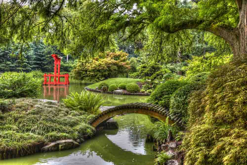 Brooklyn Botanic Garden, New York City, U.S.A. is a romantic place in NY