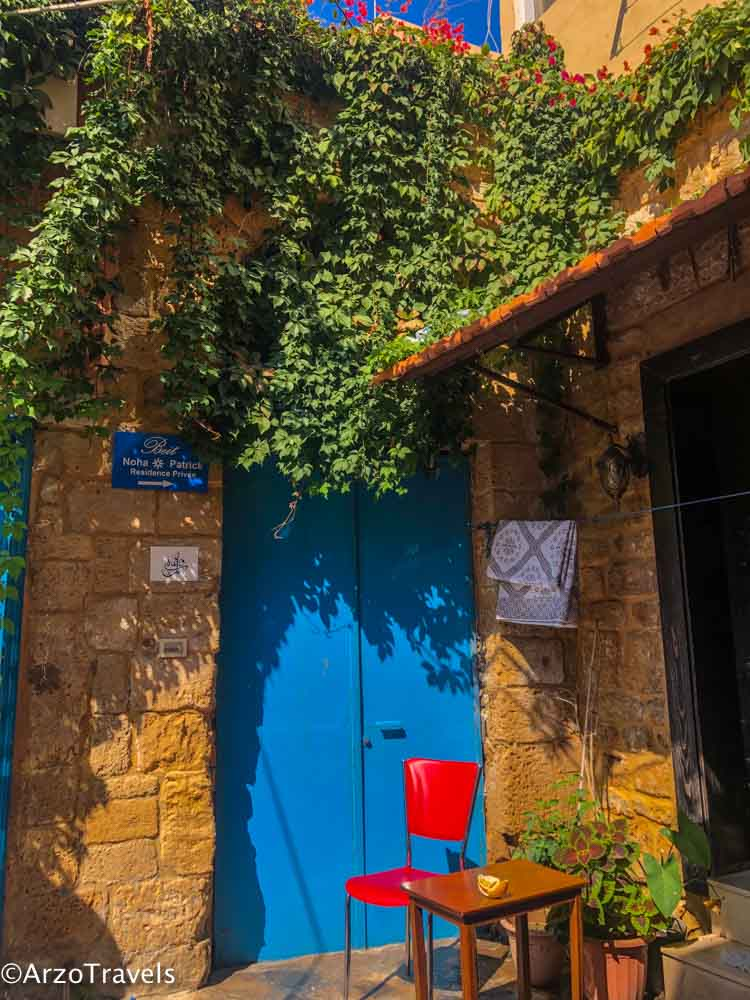 Colorful town in Tyre, Sour in Lebanon