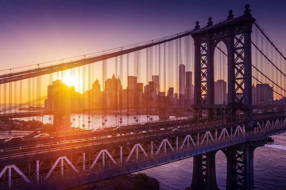 Crossing Brooklyn Bridge is one of the most romantic things